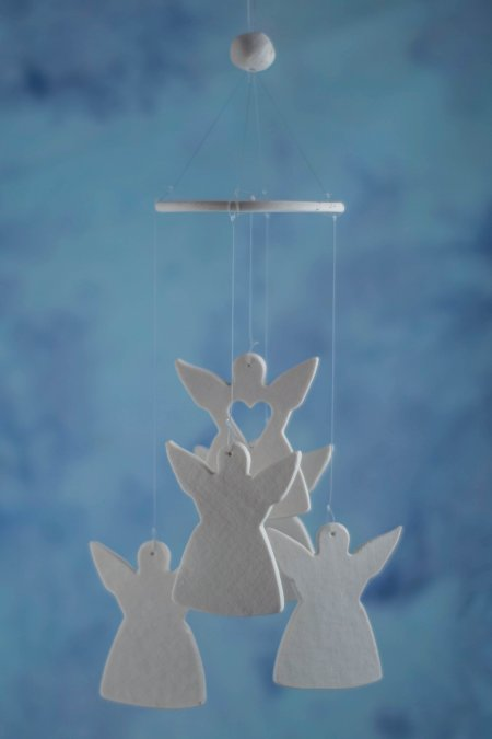 angel wind chime favor