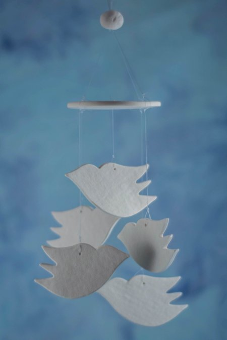 dove wind chime favor