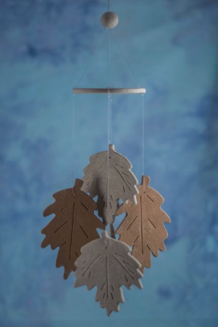 fall leaf wind chime favor