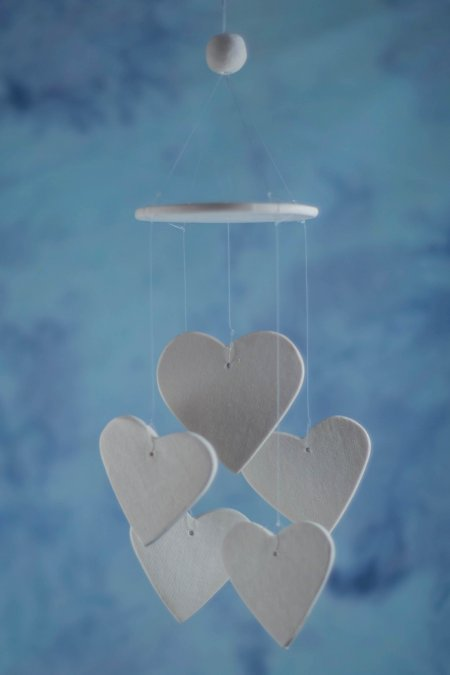 heart wind chime favor