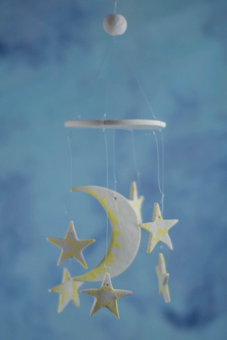 moon and star wind chime favor