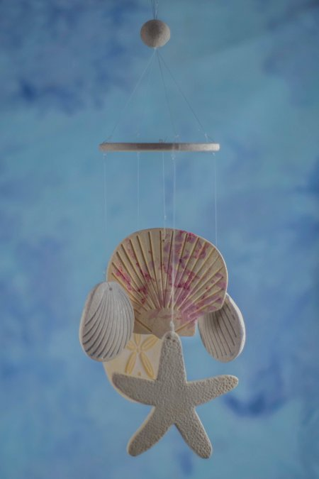Seashell wind chime wedding favors